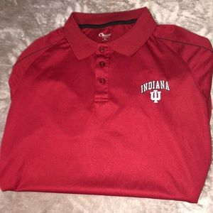 Indiana Red Short Sleeve Polo